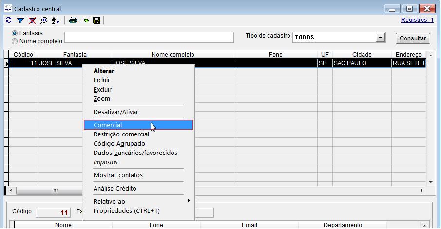 Configuração do modo correntista no sistema Vixen PDV.