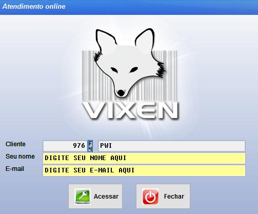 Usando o modo de atendimento online pelo sistema Vixen e o Volpe.