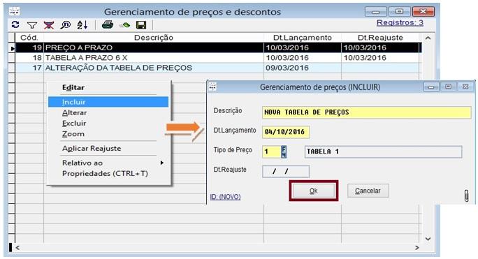 Configurar o gerenciamento de preços e descontos no sistema Volpe.