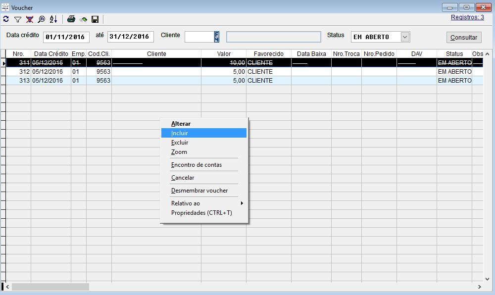 Configurando o voucher no sistema Volpe para utilizar no Vixen.