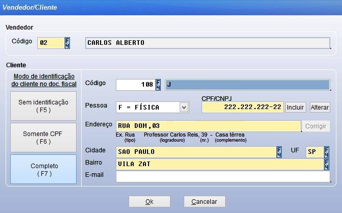 Configuração do cartão fidelidade no sistema Vixen.