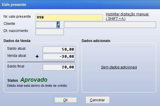 Configuração e utilização da opção vale presente no sistema Vixen.