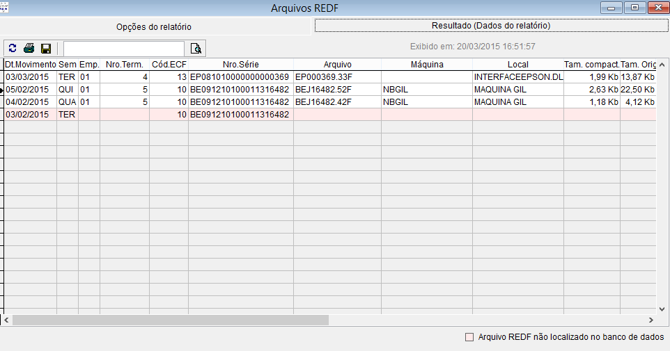 Realizar exportação dos arquivos REDF pelo sistema Vixen PDV