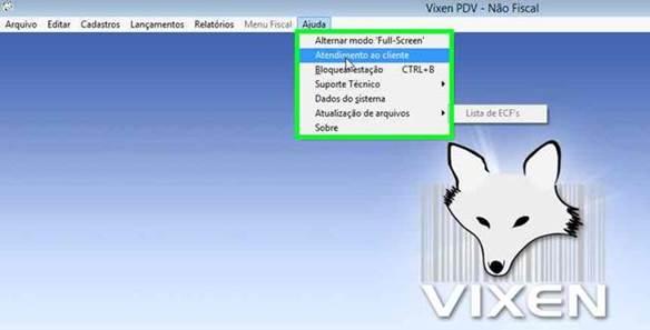 Atualização de arquivos pelo sistema Vixen PDV.