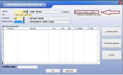 Utilizando a opção e forma de pagamento voucher no sistema Vixen PDV.