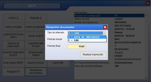 Imprimir segunda via de documento fiscal pelo sistema Vixen PDV.