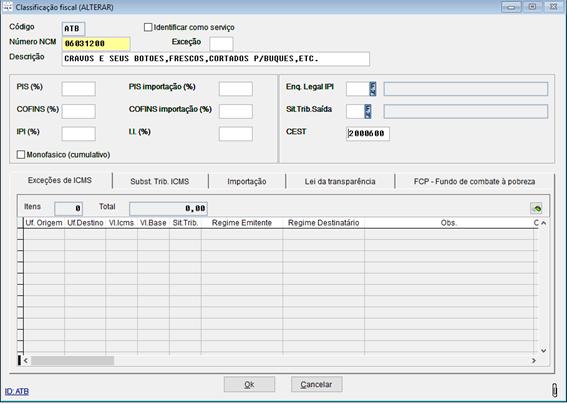 Configurando a opção CEST, campo obrigatório na emissão  de NFC-e.