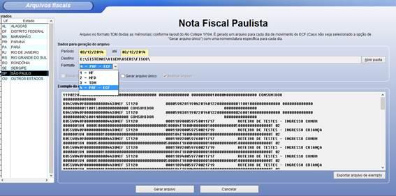 Gerando arquivos fiscais pelo sistema Vixen PDV.
